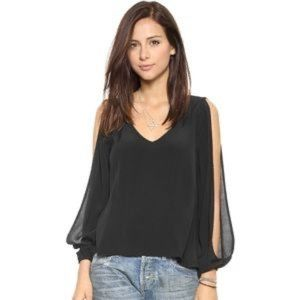 Lovers + Friends Day Dream Blouse Black Size S